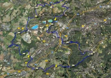 Ausschreibung Strecke Eulenkopflauf Wuppertal Schöller Düssel Dornap Varresbeck Sambatrasse Burgholz Westring Aprath Weg Marathon Halbmarathon Wtal Solingen Gräfrath
