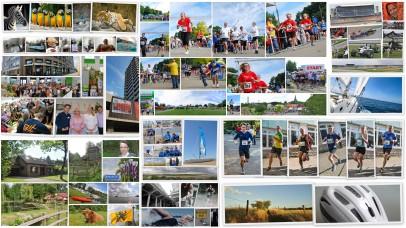 Collage Marathon Halbmarathon Firemnlauf Wuppertal Solingen Hockenheimring Solingen Sailing Cat Katamaran Holland Laufen Zoolauf Zoo Triathlon Tri Club Alf Dahl Miss Zöpfchen