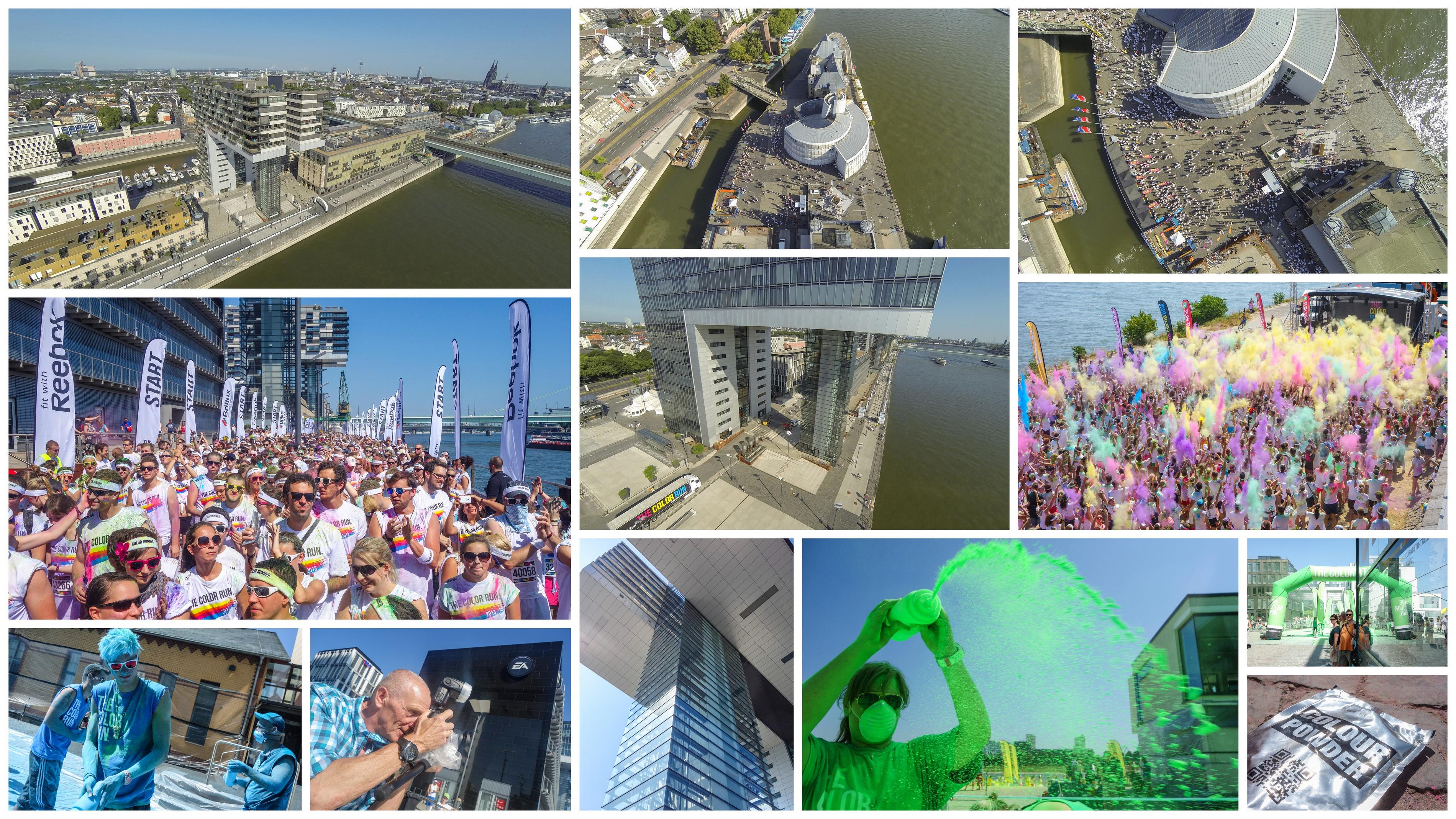 Color Run Colorrun Fotos Bilder Drohne Quadrocopter Köln Hafen Rheinauhafen Rheinhafen Bericht Blog Presse Alf Dahl Marathon Kölle Halbmarathon Heinz Schier HSR Nina Witte deinestrecke