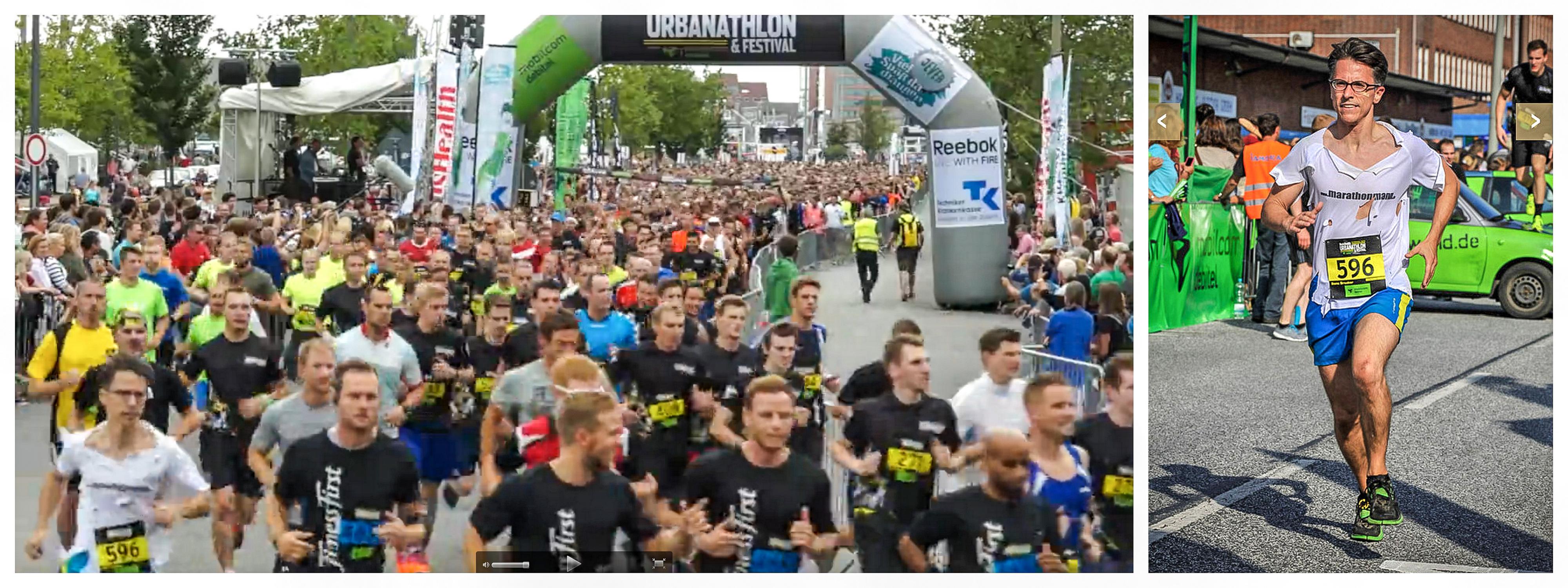 Start Urbanathlon Mens Health TK Strecke Bilder Fotos Bericht Bone Breaker Hindernisse Ergebnisse Sieger Hamburg Dahl Alf Marathon Halbmarathon