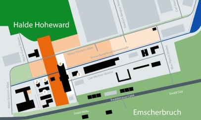 4 Zeche Ewald Halde Hoheward Rasenhängerbank Haus