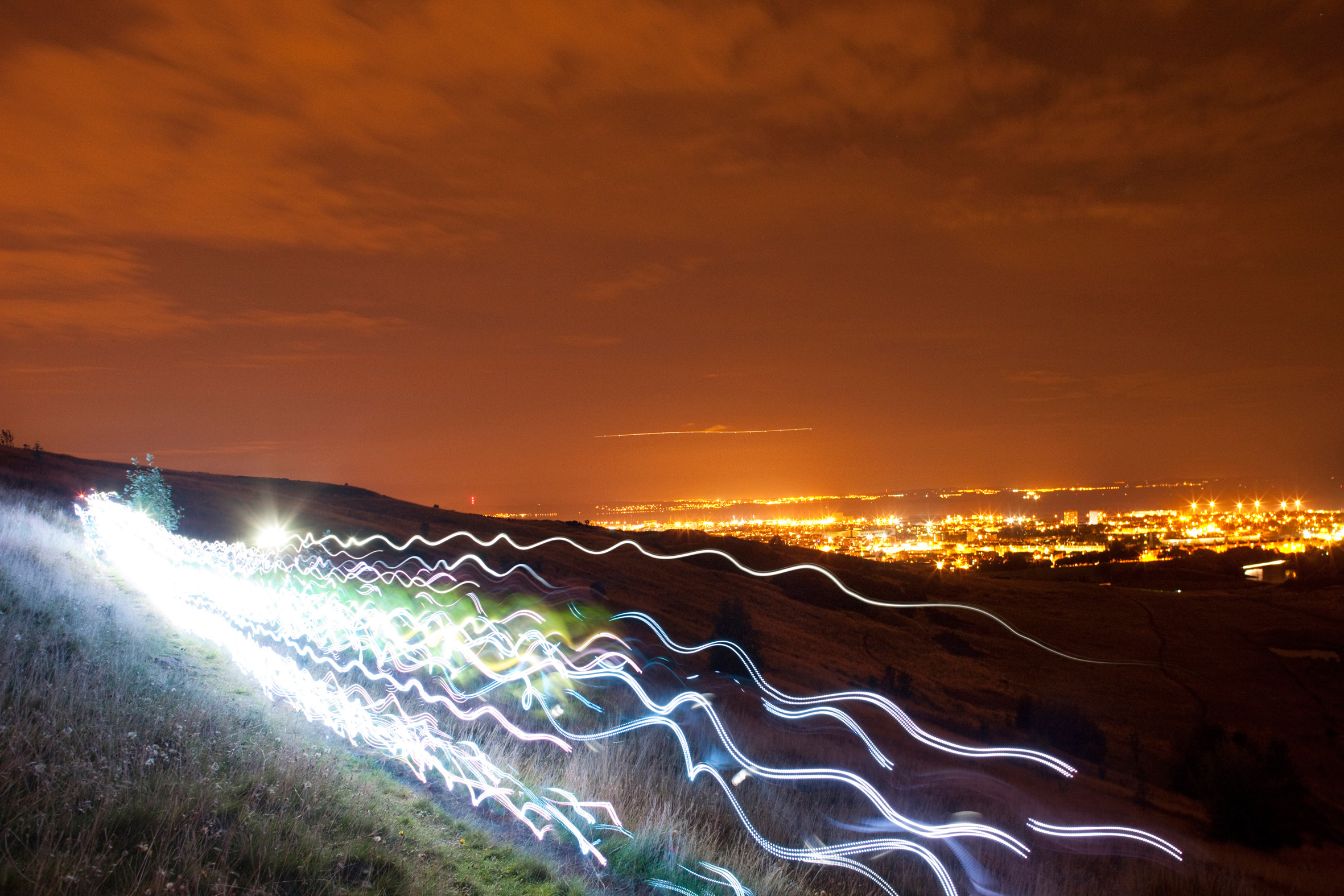 Speed of Light Edinburgh London England Scotland Deutschland Ruhrgebiet Ruhr Fotos Bilder Pictures Movies Runer Lightrunner Lightsuite LED Fotos Pictures Images