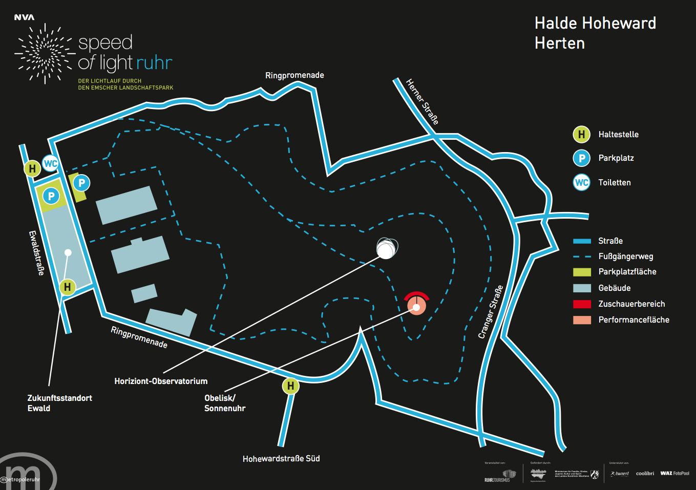Halde Hoheward Speed of Light Ruhr Ruhrgebiet NVA nvasol