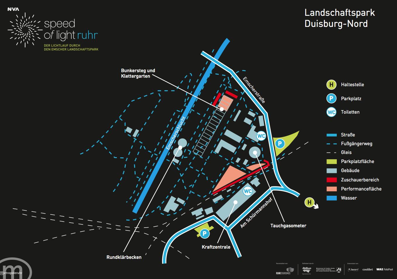 Landschaftspark Duisburg Nord NVA Speed of Light Ruhr Ruhrgebiet Tafel Farquhar Dahl