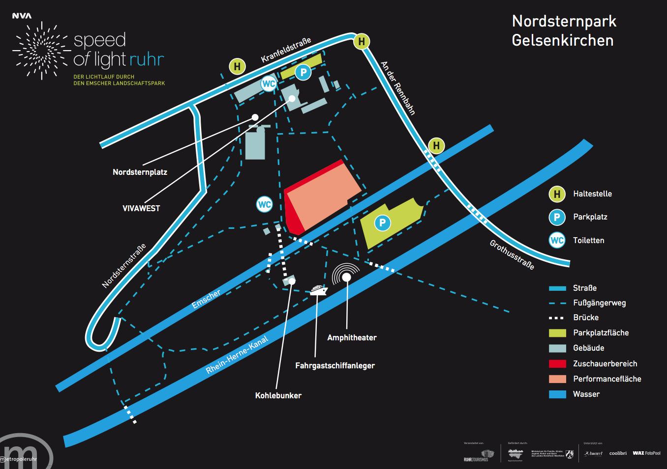 Nordsternpark Gelsenkirchen Speed of Light Ruhr Ruhrgebiet NVA nvasol