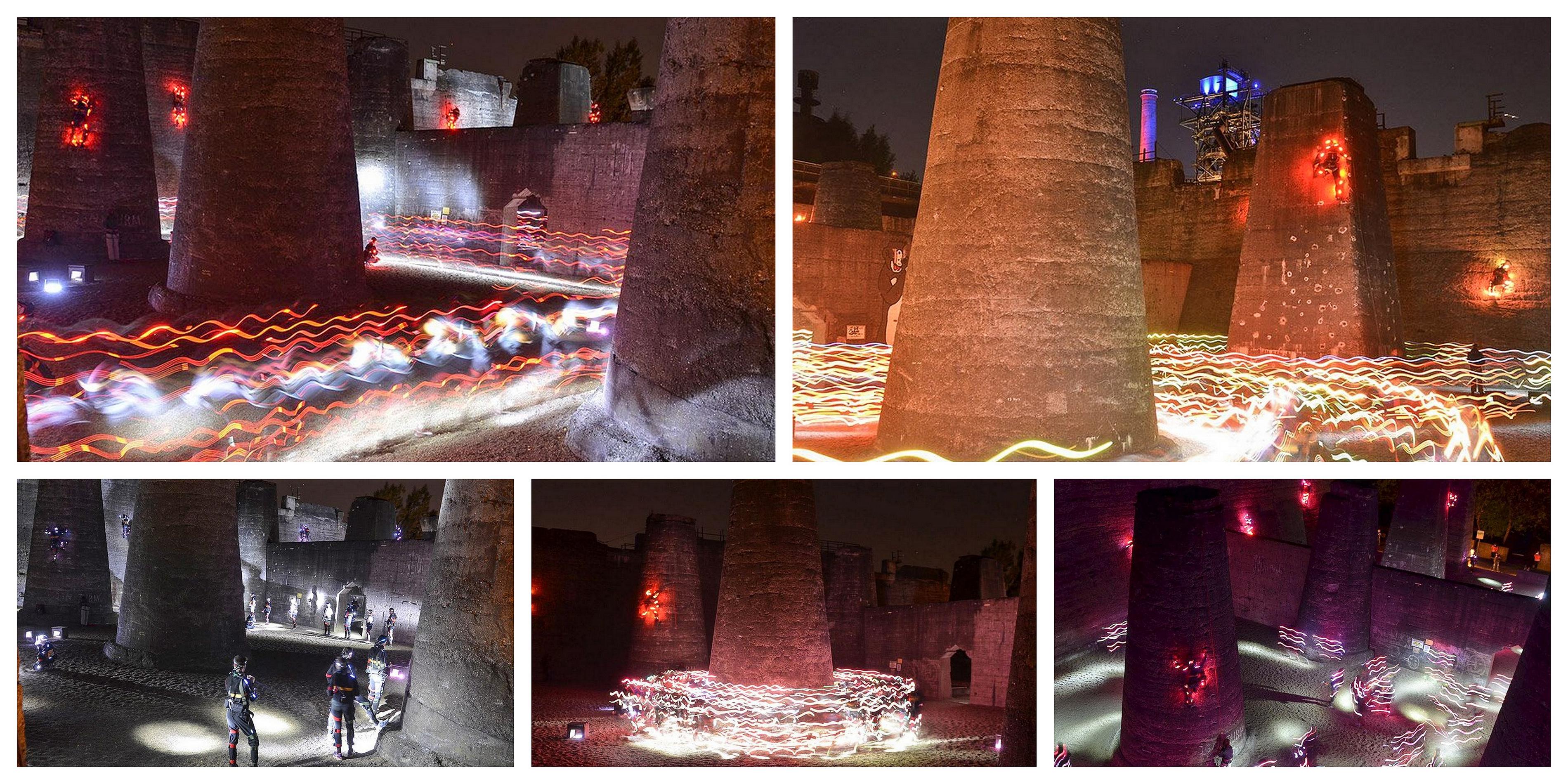 Speed of Light Bunkersequenz Bunker Haddsch Black Hole Sequence Duisburg Landschaftspark Emscher Lippe SOL NVA nvasol Angus Pipo Ivana