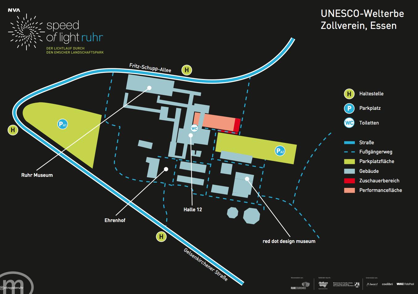 UNESCO Welterbe Zollverein Essen Zeche Zollverein Weltkulturerbe Speed of Light SOL NVA nvasol