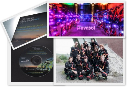 Speed of Light Ruhr Culture Sports Art Facts stage course light suits sound creative team organisers run leader bunert laufsport runners teams production base SOL nvasol