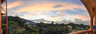 Ausblick Unterkunft Seychellen