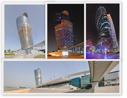 Capital Gate Tower National Exibihition Center NEC NHC Abu Dhabi Messe